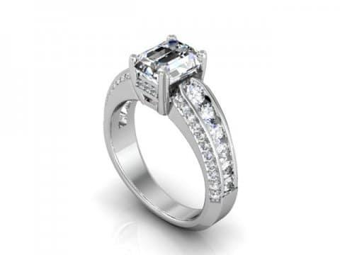 Custom Emerald Engagement Rings in Dallas Texas 1