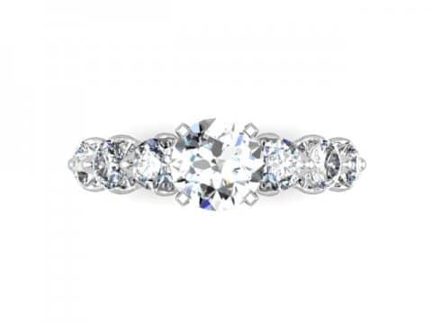 Custom Engagement Ring Amarillo 4, Shira Diamonds