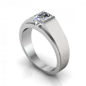 Custom Engagement Ring Bezel Ring Princess Cut 1