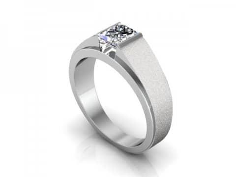 Custom Engagement Ring Bezel Ring Princess Cut 1