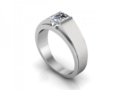 Custom Engagement Ring Bezel Ring Princess Cut 1, Shira Diamonds