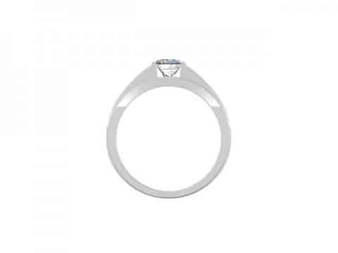 Custom Engagement Ring Bezel Ring Princess Cut 3