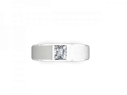 Custom Engagement Ring Bezel Ring Princess Cut 4