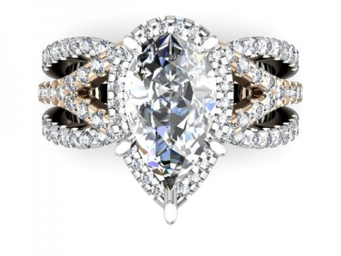 Custom Engagement Ring Pear Diamond 4 1, Shira Diamonds