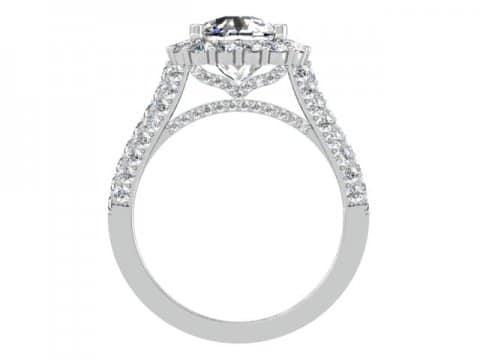Custom Engagement Rings Dallas Custom Cushion Halo Engagment Ring 2, Shira Diamonds