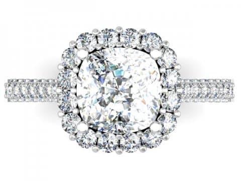 Custom Engagement Rings Dallas Custom Cushion Halo Engagment Ring 3, Shira Diamonds