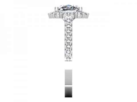 Custom Engagement Rings Dallas Custom Cushion Halo Engagment Ring 4, Shira Diamonds