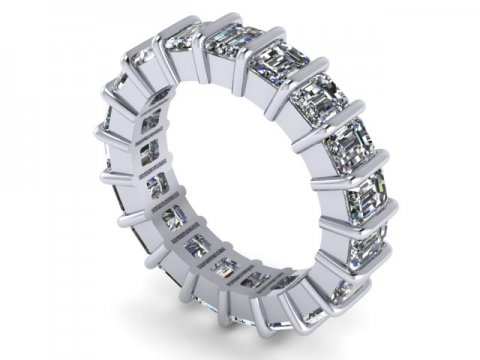Custom Eternity Bands Dallas 1 3, Shira Diamonds