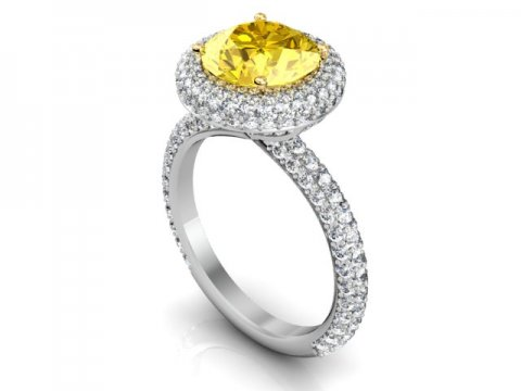 Custom Fancy Yellow Diamond Rings Dallas 1 1, Shira Diamonds