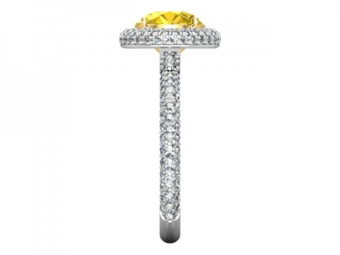 Custom Fancy Yellow Diamond Rings Dallas 2 1, Shira Diamonds