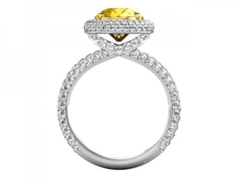 Custom Fancy Yellow Diamond Rings Dallas 3 1, Shira Diamonds