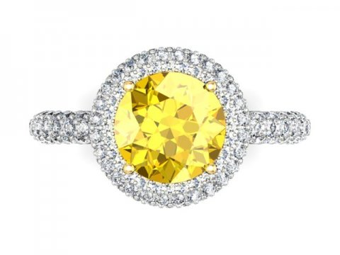 Custom Fancy Yellow Diamond Rings Dallas 4 1, Shira Diamonds