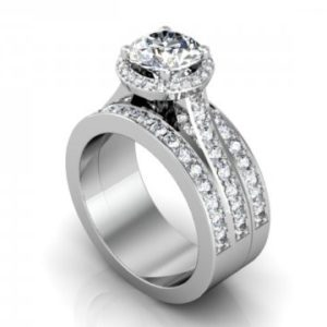 Custom Halo Diamond Ring - Custom Diamond Rings Atlanta Texas 1