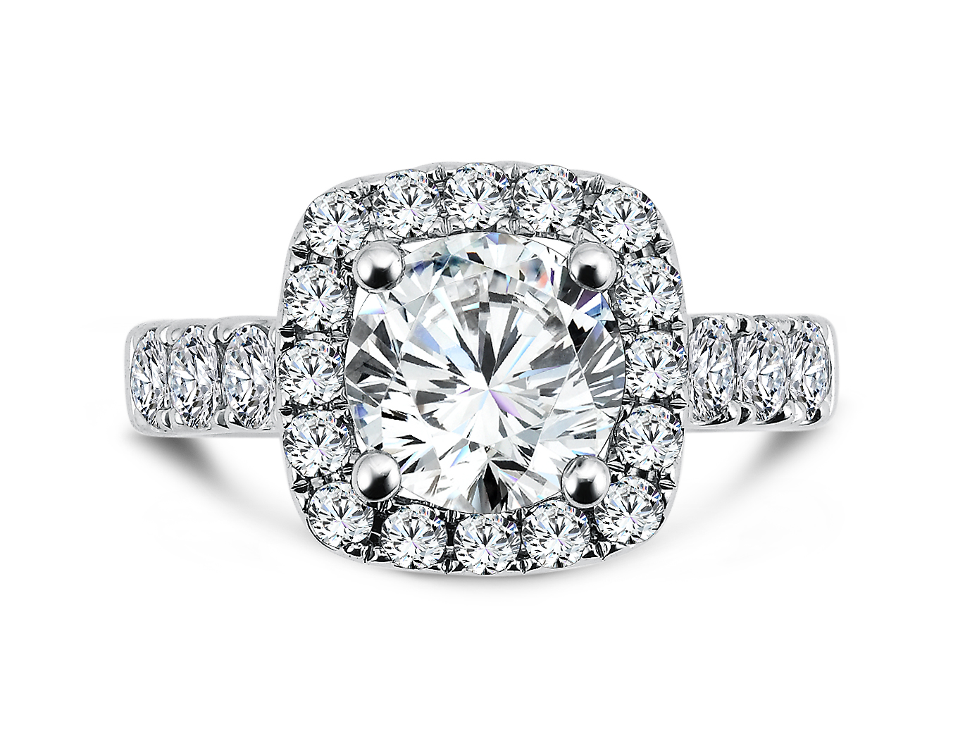 Custom Halo Diamond Ring Dallas, Shira Diamonds