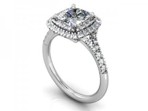Custom Halo Diamond Rings Dallas 1