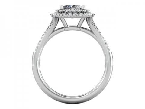 Custom Halo Diamond Rings Dallas 3