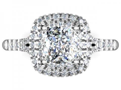 Custom Halo Diamond Rings Dallas 4