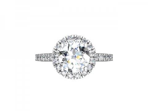 Custom Halo Diamond Rings Grand Prairie 1, Shira Diamonds