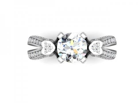 Custom Heart Diamond Rings Dallas Shira Diamonds Dallas 4 1, Shira Diamonds