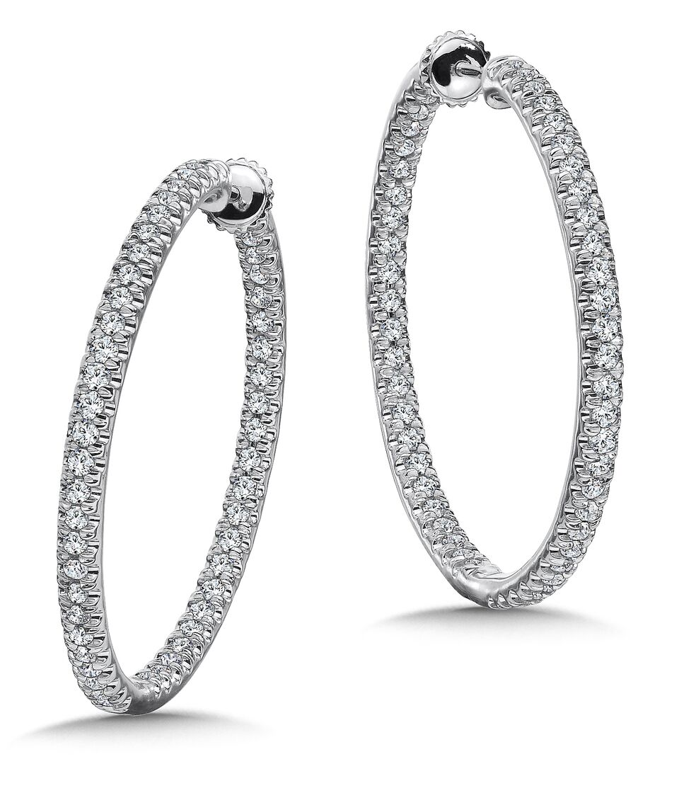 Custom Hoop Earrings in Dallas Texas - Wholesale Diamond Earrings 1