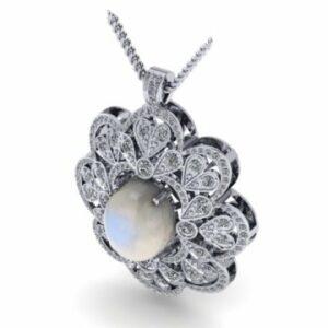 Custom Jewelry - Custom Necklace Diamonds Opal - Diamond Pendants Dallas Texas 1