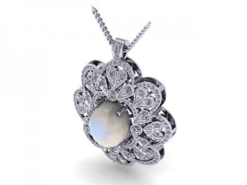 Custom Jewelry Custom Necklace Diamonds Opal Diamond Pendants Dallas Texas 1, Shira Diamonds