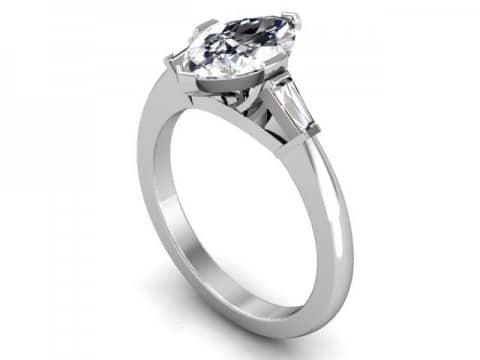 Custom Marquise Diamond Rings Dallas 1