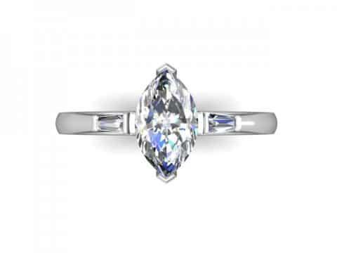 Custom Marquise Diamond Rings Dallas 2