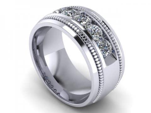 Custom Mens Wedding Bands Dallas 1 1, Shira Diamonds