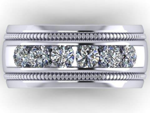 Custom Mens Wedding Bands Dallas 2 1, Shira Diamonds