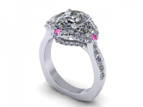 Custom Oval DIamond Rings Dallas 1 2, Shira Diamonds