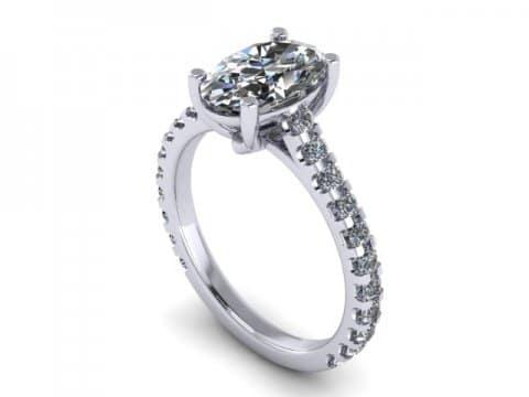 Custom Oval Diamond Rings Dallas 1 3, Shira Diamonds