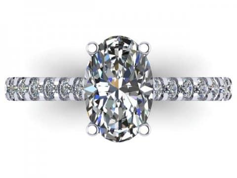 Custom Oval Diamond Rings Dallas 2 2, Shira Diamonds