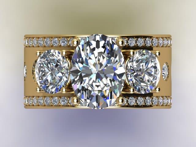 Custom Oval Diamond Rings Dallas