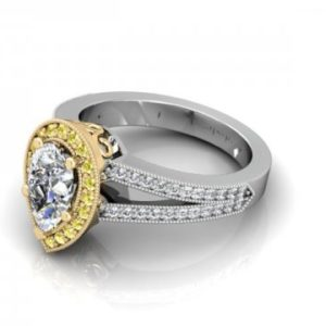 Custom Pear Diamond Ring Dallas 1 (1)