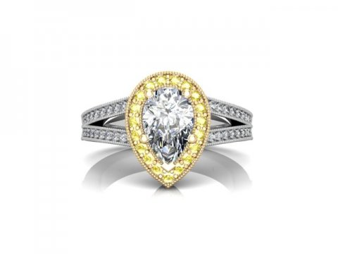 Custom Pear Diamond Ring Dallas 4