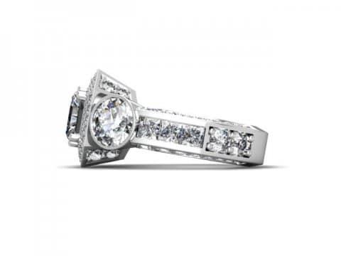 Custom Radiant Diamond Rings 1 Beaumont Texas 2 1, Shira Diamonds