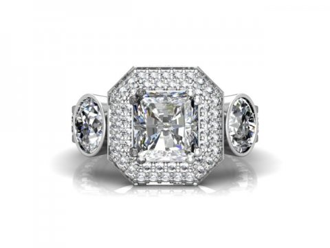 Custom Radiant Diamond Rings 1 Beaumont Texas 4 1, Shira Diamonds