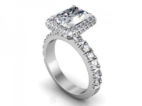 Custom Radiant Engagement Ring - Halo engagement Ring - Dallas Texas 1
