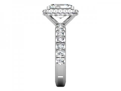 Custom Radiant Engagement Ring Halo Engagement Ring Dallas Texas 3, Shira Diamonds