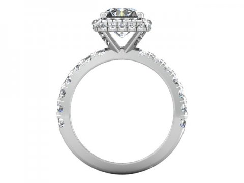 Custom Radiant Engagement Ring - Halo engagement Ring - Dallas Texas 4