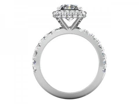 Custom Radiant Engagement Ring Halo Engagement Ring Dallas Texas 4, Shira Diamonds