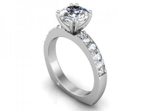 Custom Round Diamond Engagement Rings in Dallas Texas - Wholesale Diamonds 1
