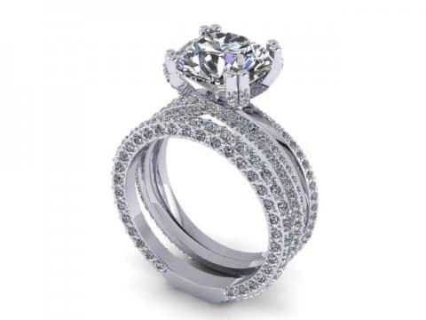 Custom Round Diamond Rings 1, Shira Diamonds