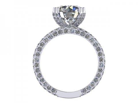 Custom Round Diamond Rings 2, Shira Diamonds