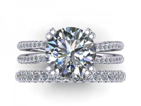 Custom Round Diamond Rings 3, Shira Diamonds