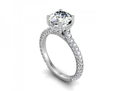 Custom Round Diamond Rings Baytown Texas 1 1, Shira Diamonds