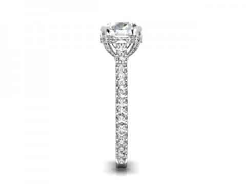 Custom Round Diamond Rings Baytown Texas 2 1, Shira Diamonds
