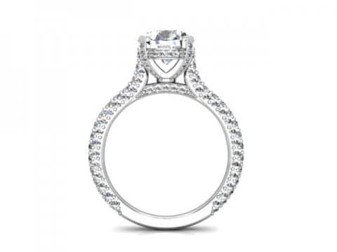 Custom Round Diamond Rings Baytown Texas 3 1, Shira Diamonds