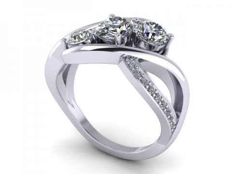 Custom Round Diamond Rings in Dallas - Custom Diamond Rings - Dallas Texas 1